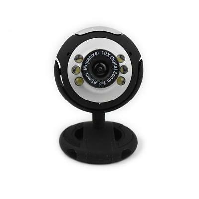 Webcam With Mic 50.0M Microphone For PC Laptop Computer USB Video Camera 6 LED