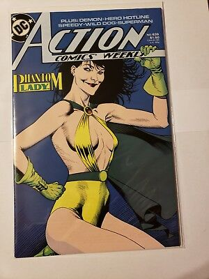 Action Comics Weekly #639 (Feb 1989, DC) Phantom Lady Demon hero Hotline