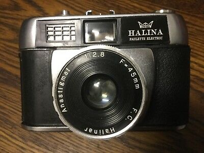 HALINA PAULETTE ELECTRIC Halinar Anastigmat 1:2.8 f=45mm Vintage  Camera -HK
