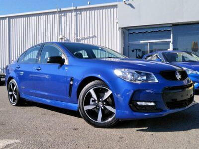 2016 Holden Commodore VF Series II SV6 Black Blue Automatic 6sp A Sedan