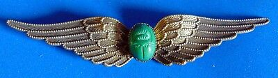 OLD **AIR FORCE **  MAGNIFICENT  PIN    GREEN  STONE  see