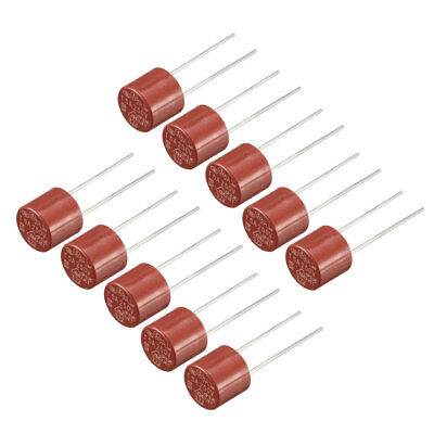 10Pcs DIP Mounted Miniature Cylinder Slow Blow Micro Fuse T5A 5A 250V Red