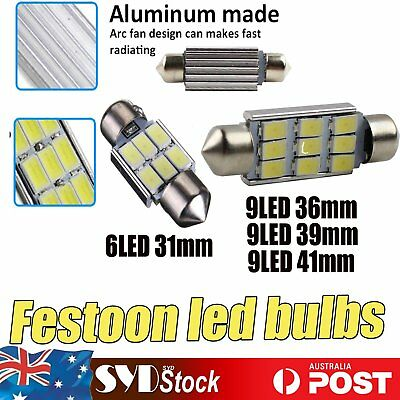Canbus Festoon Led Bulbs 31mm 36MM 39MM 41MM (9Led) Interior Dome Map Door Light