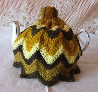 Lovely Vintage Retro Knitted Tea Cosy Excellent Condition *Unused* Med. Size