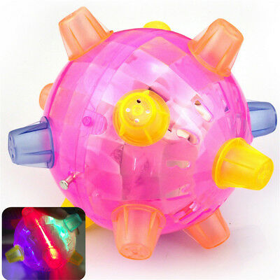 AU LED Light Jumping Activation Ball Light Music Flashing Bouncing Vibrati Toy