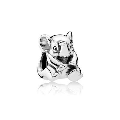 Authentic Pandora Women's 791902 Lucky Elephant Charm, Silver