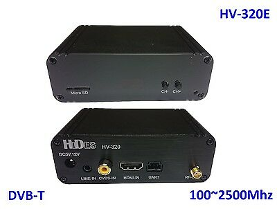 HV-320E FPV Full HD Video Transmitter 100~2500Mhz, HDMI/ CVBS to DVB-T modulator