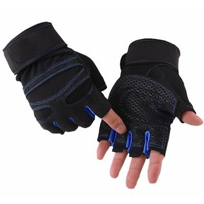 Gym Gloves Weight Lifting Fitness Bodybuilding Strength Training Wrist Leather A