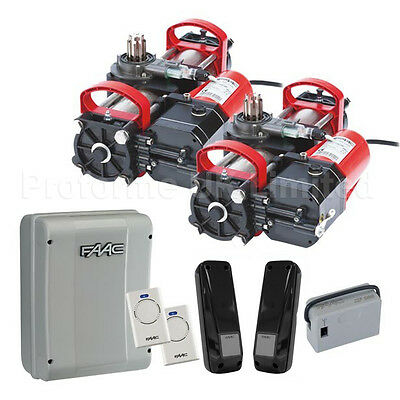 Faac S800 Kit 24v or 230v Hydraulic Underground Electric Gate Automation Kit