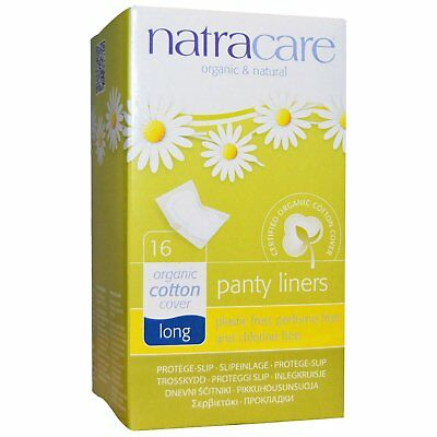 Natracare, Organic & Natural Panty Liners, Long, 16 Liners