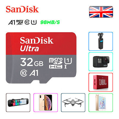 SanDisk Ultra A1 32GB Class 10 Micro SDHC TF Flash Memory Storage Card