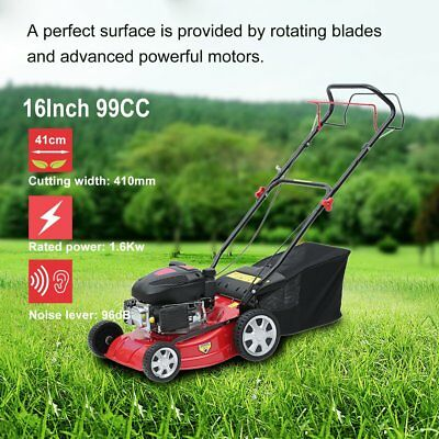 "16"" Lawn Mower 139cc Self Propelled Petrol Lawnmower 4Stroke Mulch Grass Trimmer"
