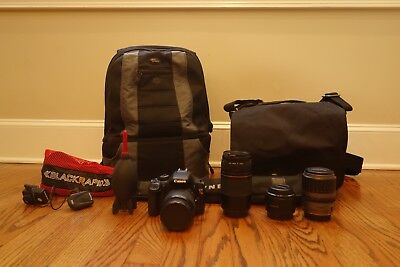 Canon T2i/550D Photography Lot (4 Lenses)-- Great for Beginners!