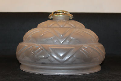 A Vintage French Art Deco Opaque Frosted Glass Ceiling Light Shade