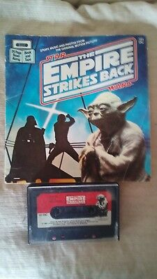 Vintage Star Wars The Empire Strikes Back Book & Tape Rainbow Communications 83