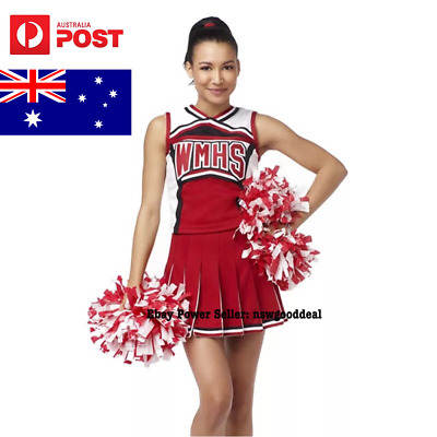 Cheerleader Costume High School Musical Uniform Girls Glee Outfit Dress Clothes