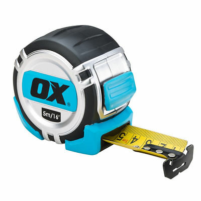 OX TOOLS PRO TAPE MEASURE HEAVY DUTY 5M / 16ft OR 8M METRIC AND IMPERIAL