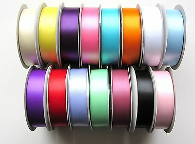 Double Sided Satin Ribbon Sold By The Metre, Choice Of 15 Colours, 5 Widths