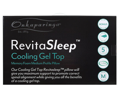 Onkaparinga Revita Sleep Memory Foam Gel Infused Pillow
