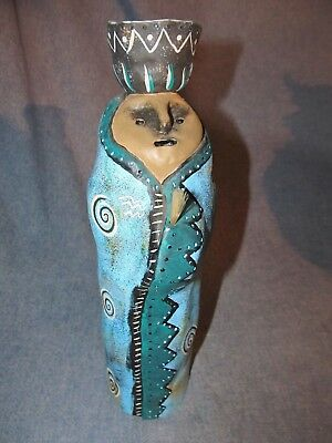 Judy Peele Tribal People Pottery Sculpture Signed and Numbered