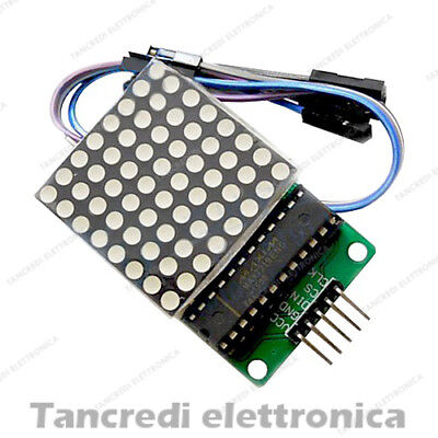 Modulo Led Display Max7219 Matrice 8 X 8 Seriale Dot Matrix Arduino Shield