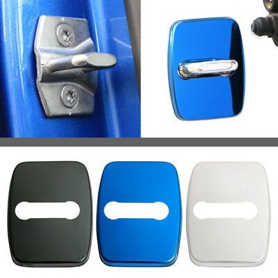 4X Cool Stainless Steel Door Lock Protective Sticker Car Decor Frames For BMW