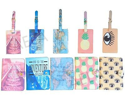 Passport Cover Holder Wallet protector Luggage Tag Travel Holiday Accessories