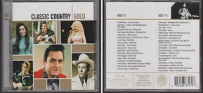 CLASSIC COUNTRY GOLD Various Artists 2 CD Set Oldies 36 Hits 60s 70s & 80s