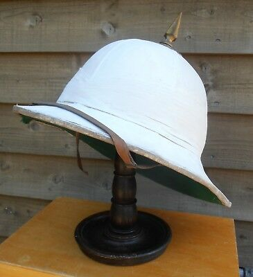 Officer's White Wolseley Tropical  Helmet - Parade Dress - British Army