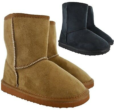 Kids Girls Winter Warm Hugg Snugg Ankle Children Fur Lined Snow Boots Size 10-2