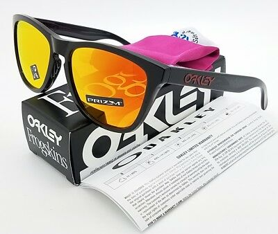 a80834ae4c NEW Oakley Frogskins sunglasses Black Ink Prizm Ruby 9013-C9 AUTHENTIC 9013 -C955