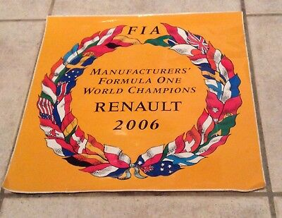 Autocollant / STICKER RENAULT F1 2006  MANUFACTURED FORMULA ONE WORLD CHAMPIONS