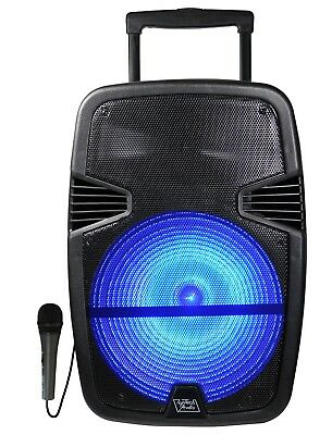 "15"" Fully Powered 2500 Watts Bluetooth Multimedia Speaker with LED Light"