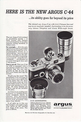 ARGUS C-44 Vintage Advertisement from the 1950s