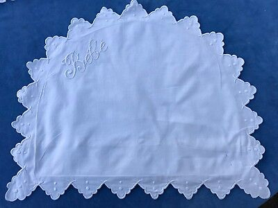 3 French Vintage Baby Pillowcases