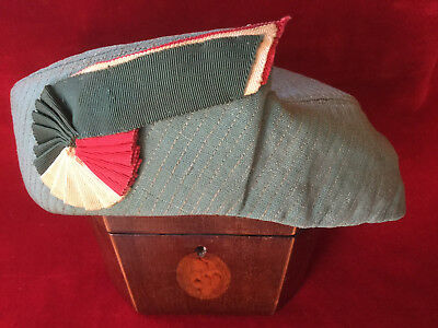 Vntg. TWA Airlines Stewardess Hat by Mae Hanauer, green color fabric