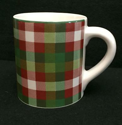 Target Home WINTER SCENIC Plaid Mug Coffee Tea Christmas Holiday Red Green