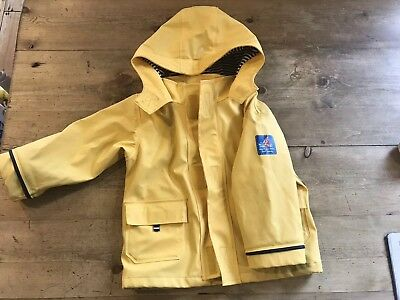 JoJo Maman Bebe Children's Fisherman's Jacket Waterproof Coat 18-24 months