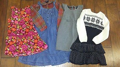 Ralph Lauren, Gymboree, Lands End & Crazy 8 Shirt & Dresses Size 6 Lot of 5