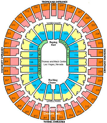 Nationals Final Rodeo Nfr 2 Tix Sec 201 Row T 12 7 18