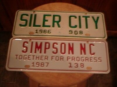 1986 Siler City Nc License Plate Tag Topper