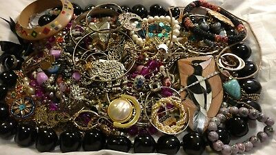Huge Vintage - Now Estate JUNK DRAWER Jewelry Lot Harvest Craft LBS JEWELRY
