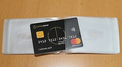 Clear Credit Card holder refill insert for card holder 20 pockets Landscape