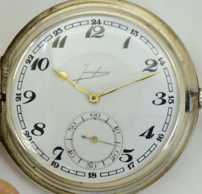 One of a kind pre-WWII German silver Jungians Caliber 42 award pocket watch&box