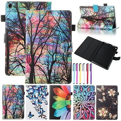 Smart Magnetic Leather Wallet Case Cover For Kindle Fire HD 8 2018/Fire 7/HD 10