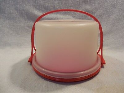 Vintage 1970's Tupperware Tuppertoys Children's Red Cake Pie Saver With Handle