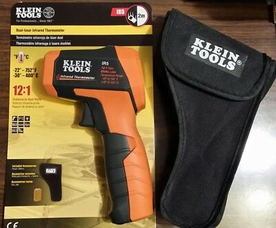 Klein Tools IR5 12:1 Dual Laser Infrared Thermometer - w/ Case