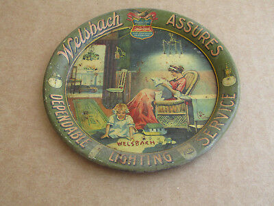 Welsbach Assures Dependable Lighting Service Pre-Prohibition Tip Tray