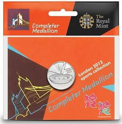 London 2012 50p Sports Collection Completer Medallion