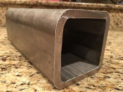 "Stainless Steel Square Heavy Wall Tube Tubing 4"" x 4"" x 3/8"" Wall x 10"" long"